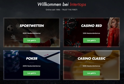 Intertops Casino, Sportwetten & Poker