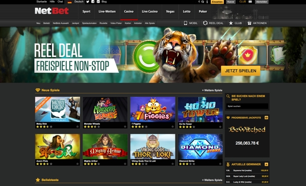NetBet Casino, Sportwetten, Poker & Lotto